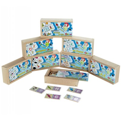 Domino alfabetizacao c 8 jogos sortidos - KIT