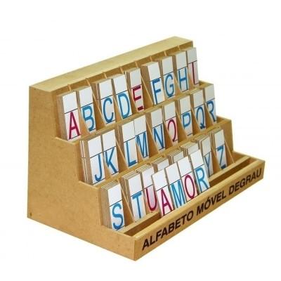 Alfabeto movel degrau