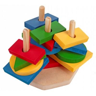 Torres de formas geometricas mdf